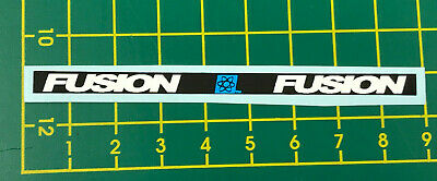 old school bmx decals stickers fusion seat clamp black normal font