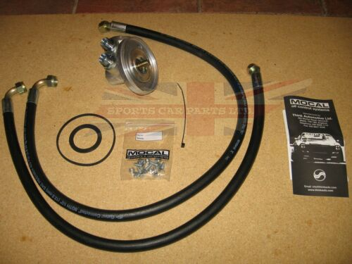 New Oil Cooler Kit w// Oil Filter Adaptor Lines /& Fitting Kit Triumph TR6