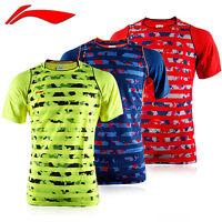 2015 World Li Ning Shirt Championships Team Men's Tops Tennis/badminton Shirts