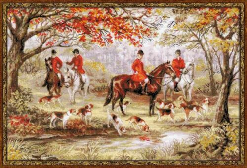 RIOLIS  1431  RIDING OUT  COUNTED  CROSS STITCH  KIT