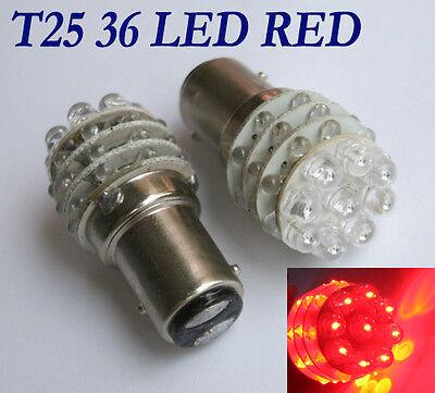 2x Rot 12V DC Bremslicht Rücklicht 36 LED 1157 Auto Licht Lampe KFZ Turn Birne