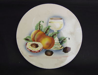 Antiques Underneath Dish Earthenware Decoration Fruits Germany