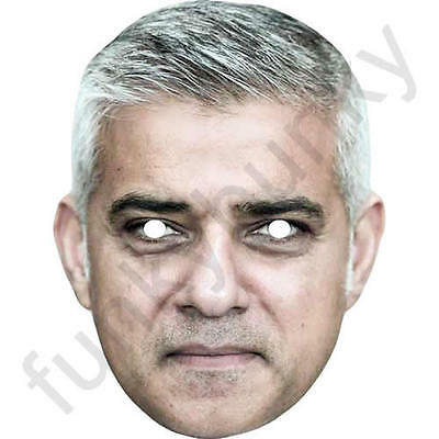 All Our Masks Are Pre-Cut! Sadiq Khan London Mayor Politician Card Mask
