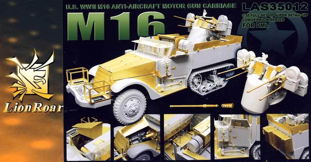 Lionroar GreatWall HOBBY II Guerra Mundial U. S. Ejército M16 Anti-Aircraft
