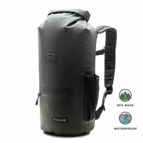 PVC-Free Waterproof Backpack With Zip and Bottle Pocket, Tillak Kiwanda Dry Bag