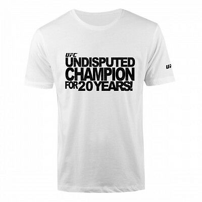 White UFC Undisputed Champion T-Shirt Men/'s  Sizes S//M//L//XL//2XL NWT