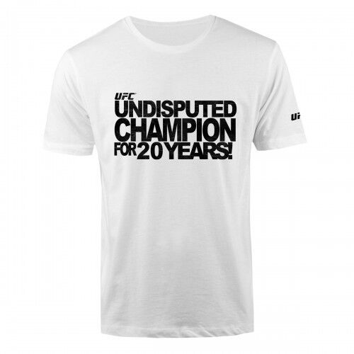 Men/'s  Sizes S//M//L//XL//2XL NWT UFC Undisputed Champion T-Shirt White