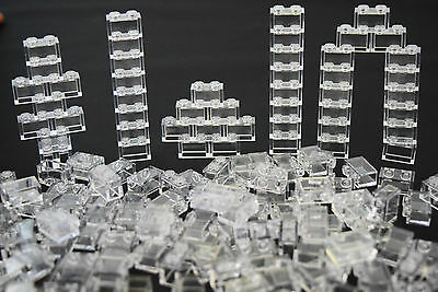☀️NEW LEGO Lot Of 50 1X2 Bricks White Transparent Clear Translucent trans clear