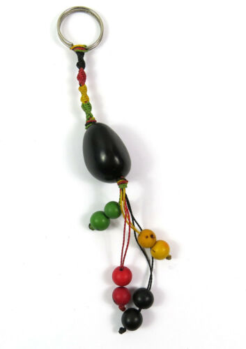 ein Schlüsselanhänger Natur Tagua-Nuss Samen gefärbt Taschenanhänger bunt NEU