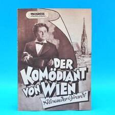 """433 Progress-Filmillustrierte 89/1954 """"Der Komödiant von Wien"""" DDR Karl Paryla"""