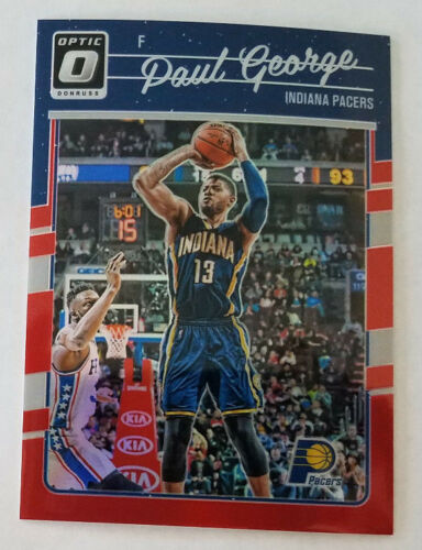 2016-17 Donruss Optic Basketball Red Prizm #d 32/99 - PAUL GEORGE - Pacers