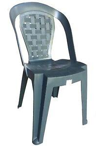Sedie Plastica Senza Braccioli.Dettagli Su 100 Sedie In Plastica Giardino Senza Braccioli Colore Verde Modello Matilde