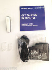 New Plantronics Marque M155 Bluetooth Stereo Wireless Headset Stream Music-White