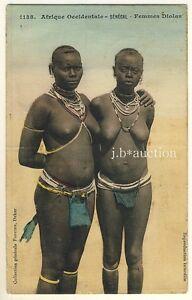 Senegal Diola Women Nackte Frauen Vintage 1910s Ethnic Nude Pc