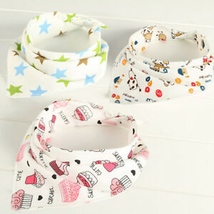 5Pcs-Baby-Bibs-Children-Cotton-Triangle-Head-Scarf-Bandana-Dribble-Bibs-XJ