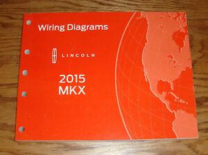 Original 2015 Lincoln MKX Wiring Diagrams Manual 15   eBay