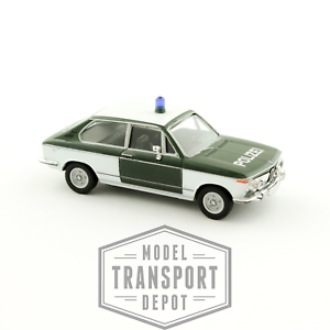 Herpa-047210-BMW-2002-1802-Touring-Tii-Polizei-Miniature-Scale-Model-Car-1-87-HO