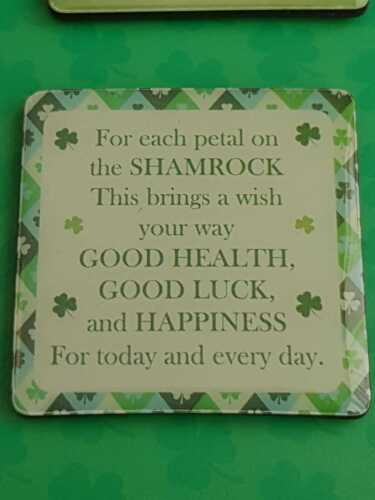 SET OF 4 IRISH FRIDGE MAGNETS IN OFFER HOME BLESSINGS HOPE LUCK OF THE IRISH