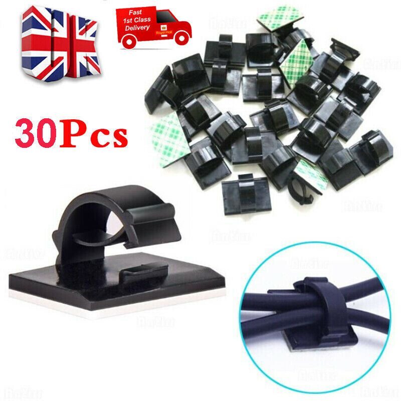 100-500xCar Cable Clips Self-Adhesive Cord Management Wire Holder Organizer