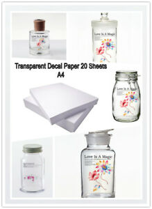 20-PACKS-WATER-SLIDE-DECAL-PAPER-A4-SIZE-INKJET-CLEAR-TRANSFER-PAPER