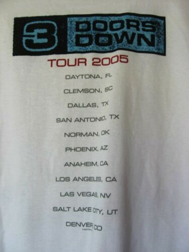 THREE DOORS DOWN...THE ROAD I/'M ON...2005...CONCERT...TOUR...T-SHIRT...NEW...XL