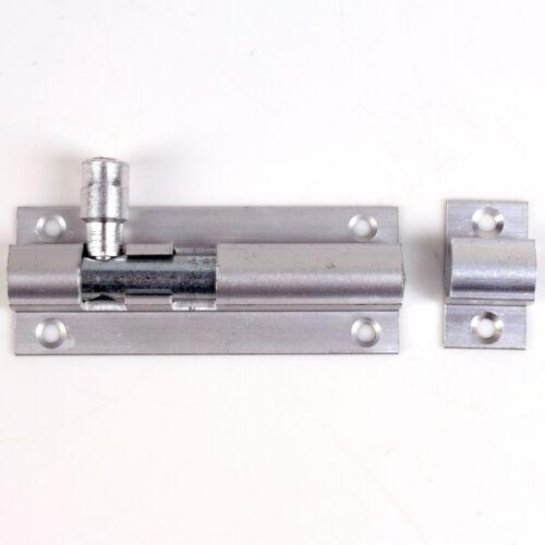 "63mm ALUMINIUM SLIDE DOOR BOLT 2.4/"" Satin Dead Latch Lock Catch Bathroom Gate"