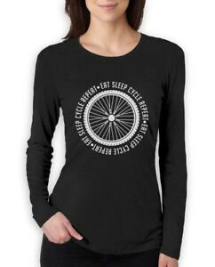 Cycling Bike Cool Sweatshirt Gift Idea Eat Sleep Cycle Repeat