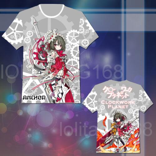 Anime Clockwork Planet AnchoR Tee Tops T-shirt Cosplay Costume Short Sleeve Cute