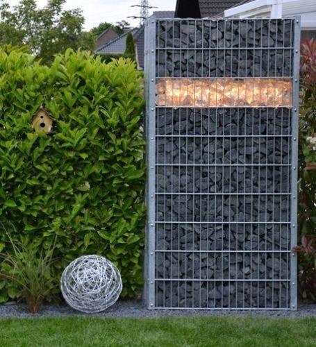 LED Gabionene Beleuchtung 85cm warmweiss für Zaun und Steinmauer 360° IP65 *47