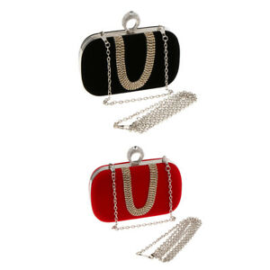 Fashion-Handbag-Clutch-Purse-Women-Bridal-Diamante-Chain-Shoulder-Bag-Lover-Gift