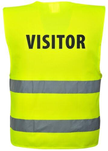 PORTWEST C405 VISITOR yellow hi-vis lightweight reflective vest size S//M-XXL//3XL