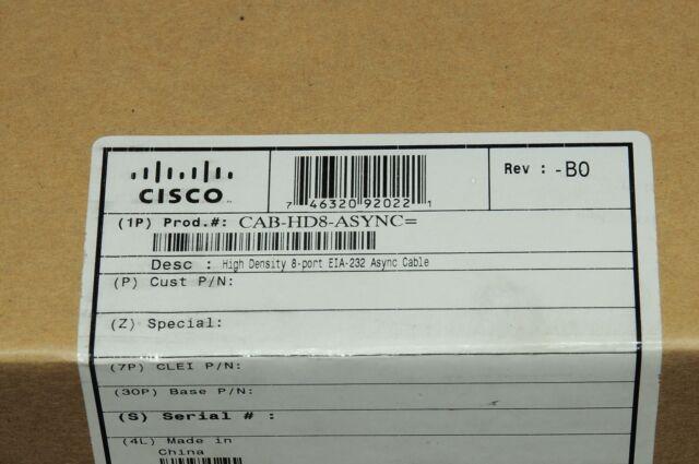 *Brand New* Cisco CAB-HD8-ASYNC Octal 8-port EIA-232 Cable 1YrWty TaxInv