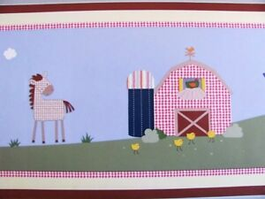 Kidsline-COUNTRY-SIDE-FARM-ANIMALS-10-yds-30-ft-WALLPAPER-Wall-BORDER-NEW