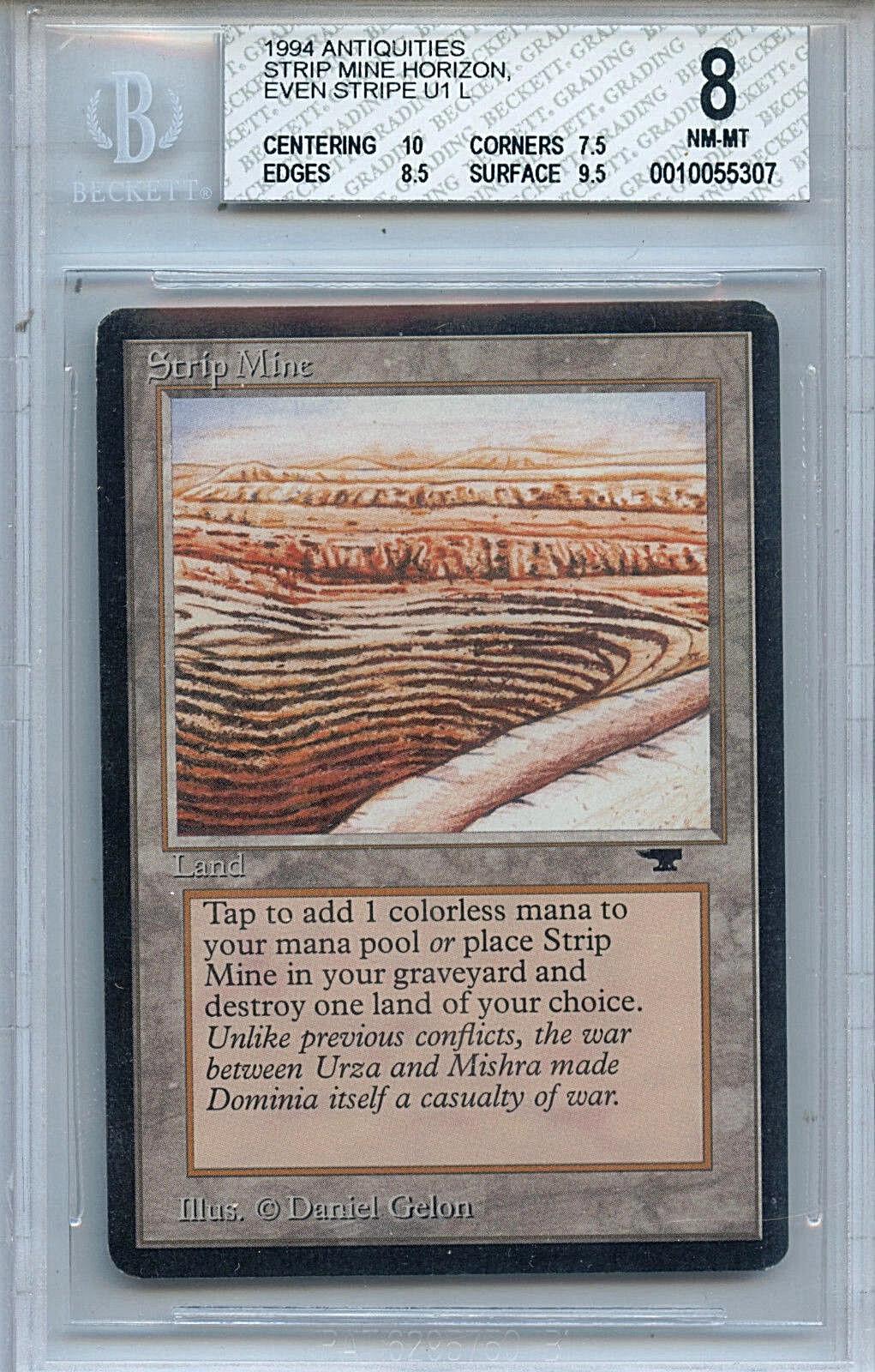 MTG Antiquities Strip Mine Even Horizon BGS 8 (8) NM-MT 10 centering 5307
