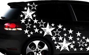 93-Piezas-Estrella-Pegatinas-de-coches-kit-tuning-Wandtattoo-flores-xxxm
