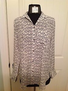 3a3518375dd4a J.CREW CLASSIC SILK BLOUSE IN KEY PRINT - SIZE 2 - SOLD OUT!!!