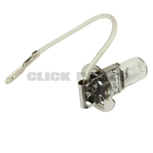 2 x H3 HALOGEN HEADLAMP SPOT LAMP BULB 483 12V 100W PK22s 11.5mm