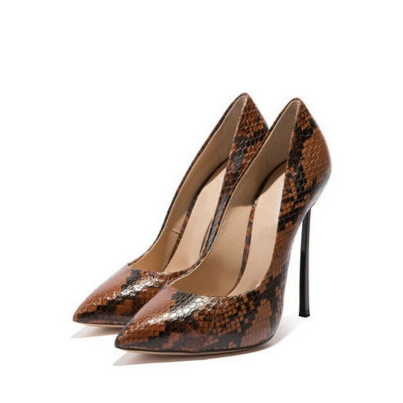 les les les femmes l'orteil pointu de la peau de serpent haut talon aiguille glisser sur la s Chaussure  fête sexy nouveau b62903