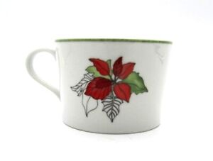 Block-Spal-POINSETTIA-Oversized-Flat-Coffee-Tea-Cup-Mug-Portugal-2-3-4-034