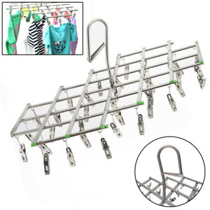 35-Pegs-Stainless-Steel-Laundry-Socks-Washing-Clothes-Airer-Dryer-Rack-Hanger