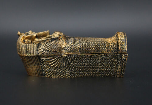 1//18 Mummia BARA PIRAMIDI EGIZIE Souvenir turistici PVC Figura 10cm