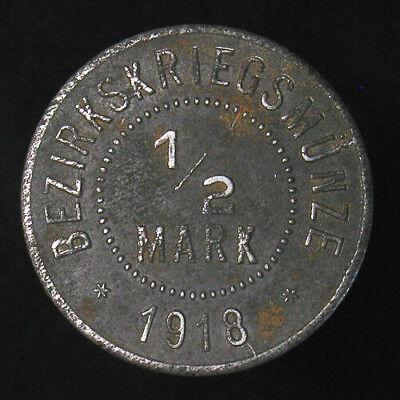 Private Notgeld Token 1 Coin Only 1918 Eisleben Germany Mansfeldsche 50 Pf