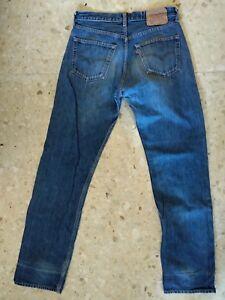 Levis-501-W32-L34-vaqueros-azules-piedra-CON-MEDIDAS-CM-vintage-Preciosos-2