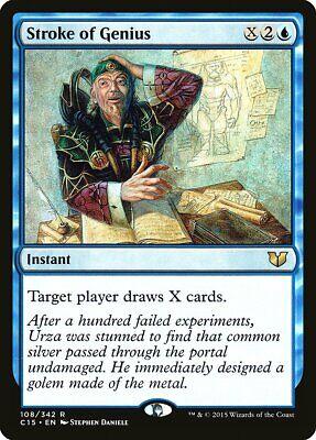 Stroke Of Genius Commander 2015 Nm-m Blue Rare Magic The Gathering Card Abugames
