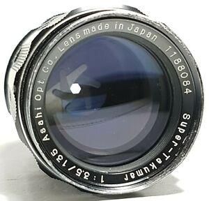 Asahi-Pentax-135mm-f3-5-Super-Multi-Coated-Takumar-m42-Screw-Fit-UK-Schnelle-Post