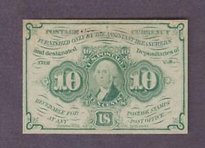 1st-ISSUE-10-Uncirculated-George-Washington-U-S-Fractional