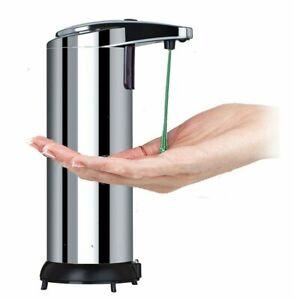 Dispenser-di-sapone-automatico-in-acciaio-inox-Touchless-Sensore-Infrarosso-CONTENITORE-POMPA
