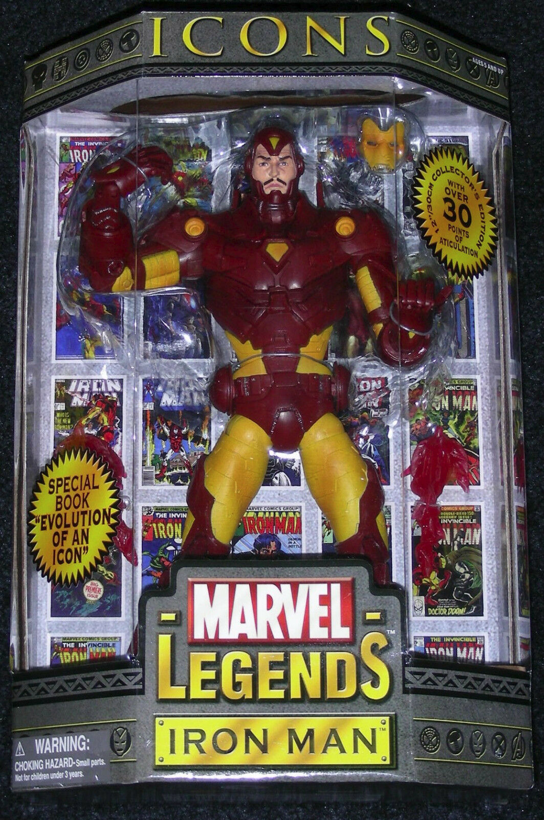 Toy Biz Marvel Legends ICONS IRON MAN YELLOW & RED VERSION 12  Action Figure NEW
