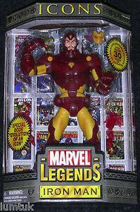 Toy Biz Marvel Legends Icônes Action Figure 12   Toy Biz Marvel Legends Icons Iron Man Yellow & Red Version 12