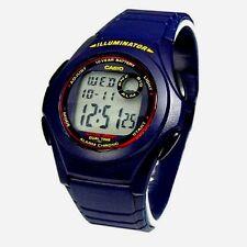 Casio F200W-2A Mens Blue Resin Digital LCD Sports Watch w/ Illuminator NEW